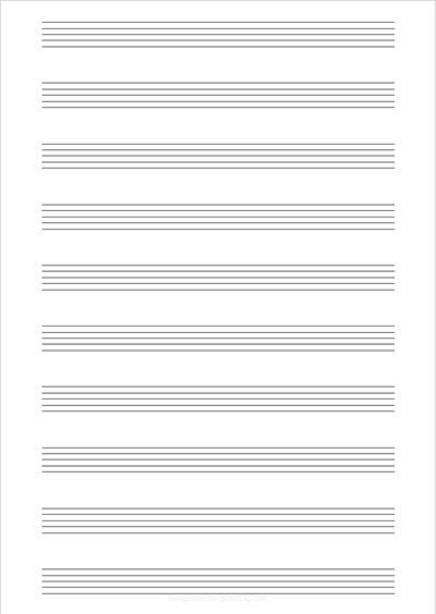 Sheet Music Portrait 10