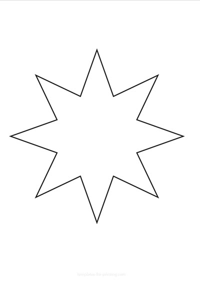 Star black only contours