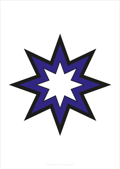 Star blue with big outlines