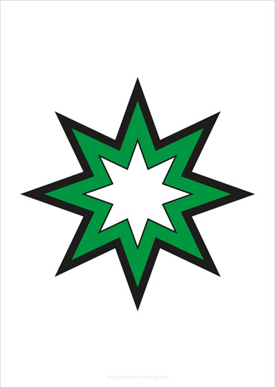 Star green with big outlines