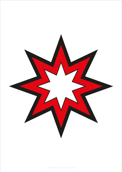 Star red with big outlines