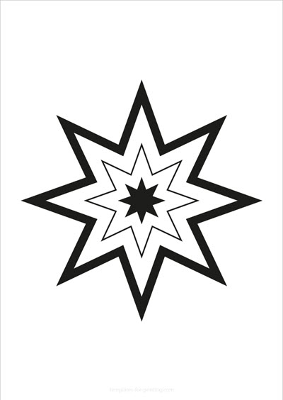 Star with big outline