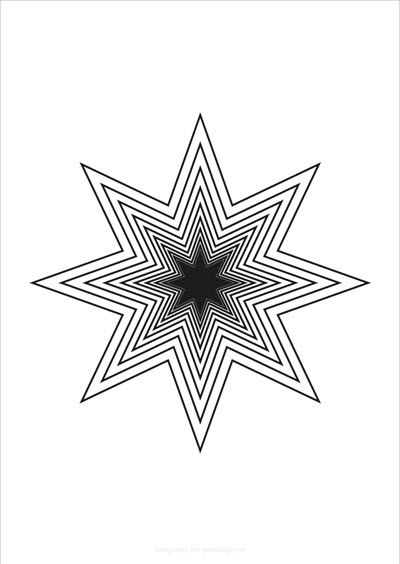 Star with multiple outlines