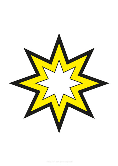 Star yellow with big outlines
