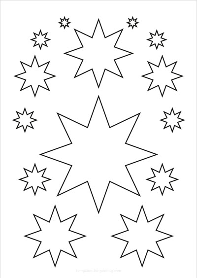Stars 14 only contours