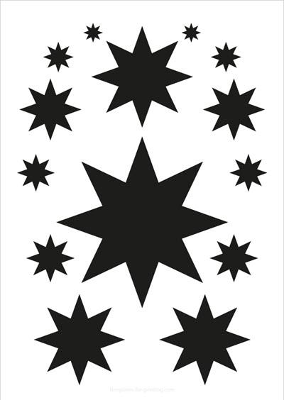 Stars black 14