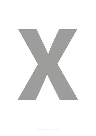 X Capital Letter Gray