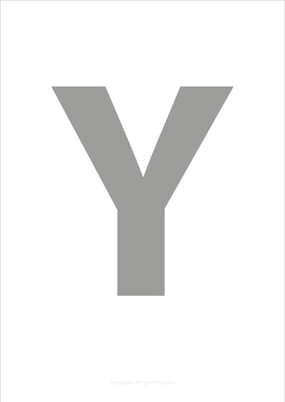 Y Capital Letter Gray
