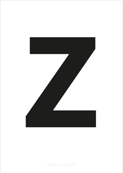 Z Capital Letter Black A4